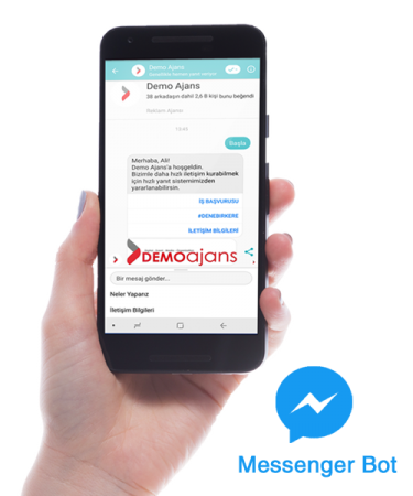 Demo ajans facebook messenger bot sistemi